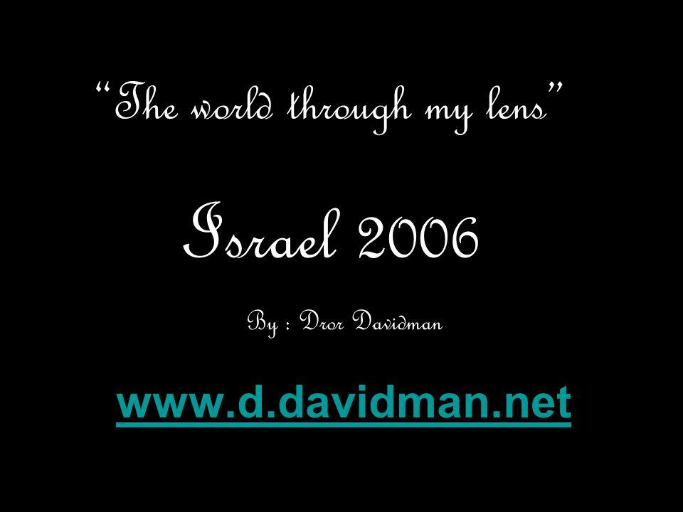 The world through my lens Israel 2006 By : Dror Davidman www.d.davidman.net
