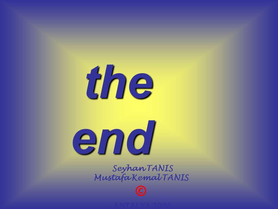 the end the end Seyhan TANIS Mustafa Kemal TANIS © ANTALYA 2006