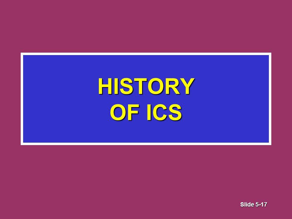 Slide 5-17 HISTORY OF ICS