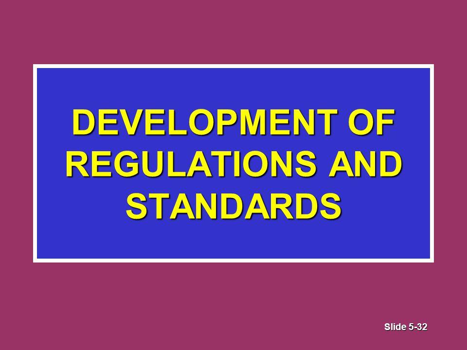 Slide 5-32 DEVELOPMENT OF REGULATIONS AND STANDARDS