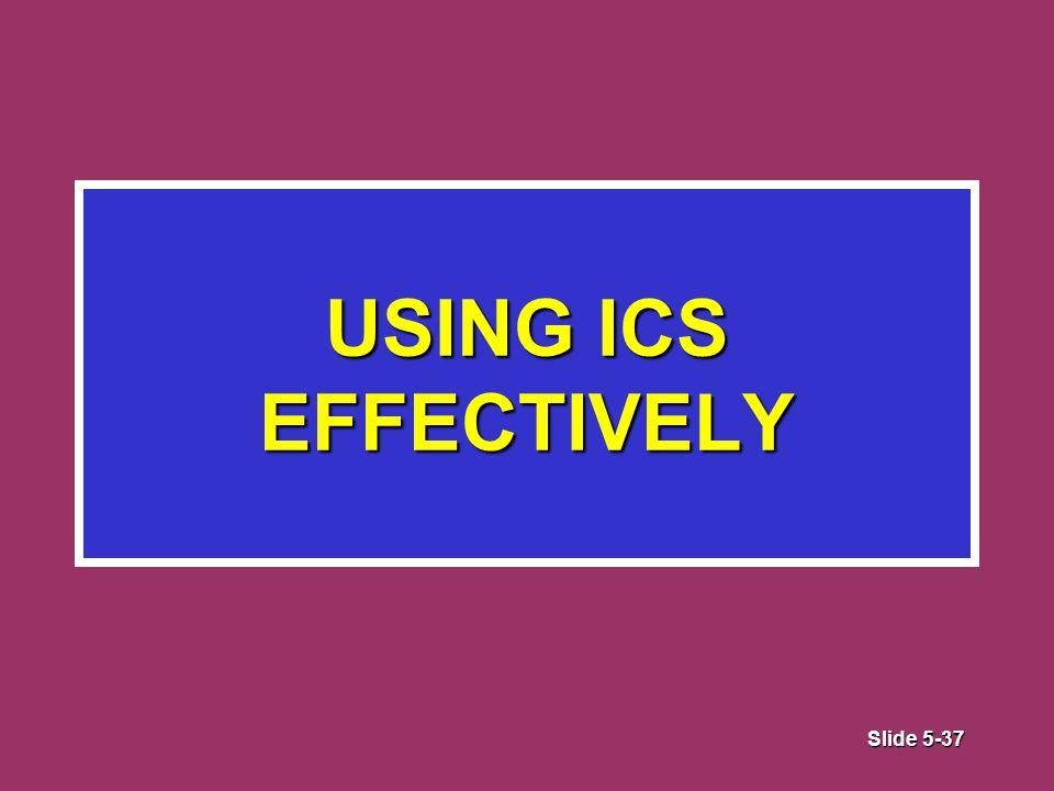 Slide 5-37 USING ICS EFFECTIVELY