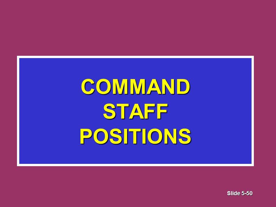 Slide 5-50 COMMAND STAFF POSITIONS