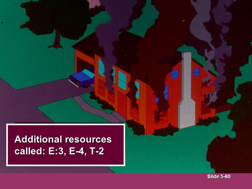 Slide 5-80 Additional resources called: E:3, E-4, T-2