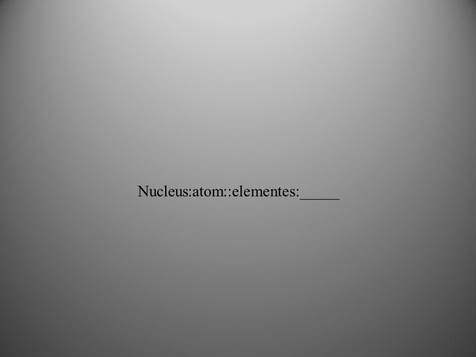 Nucleus:atom::elementes:_____