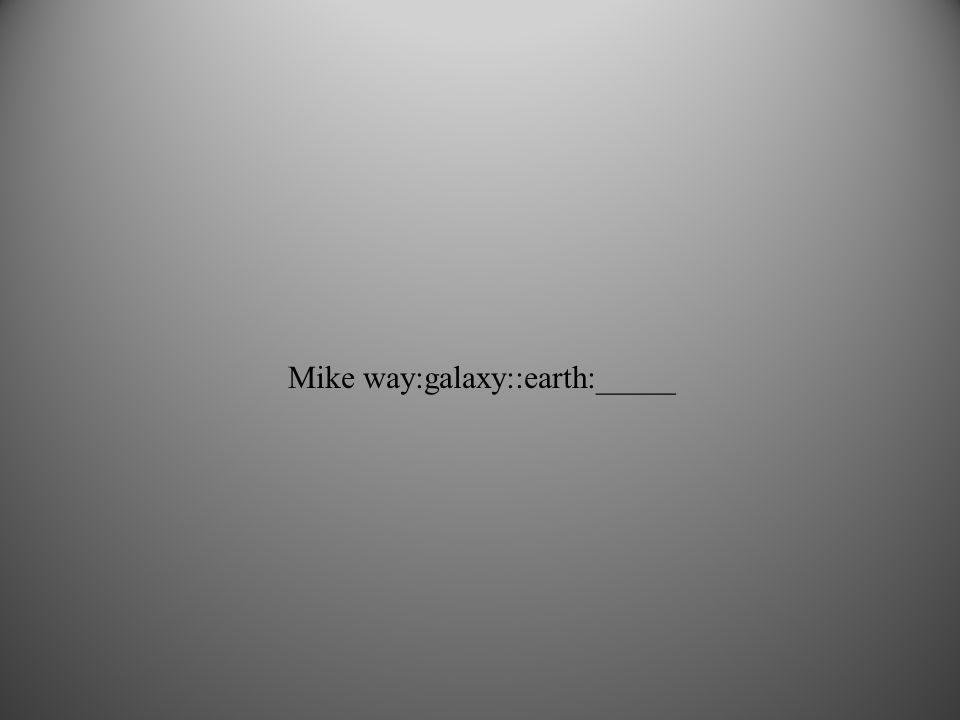 Mike way:galaxy::earth:_____