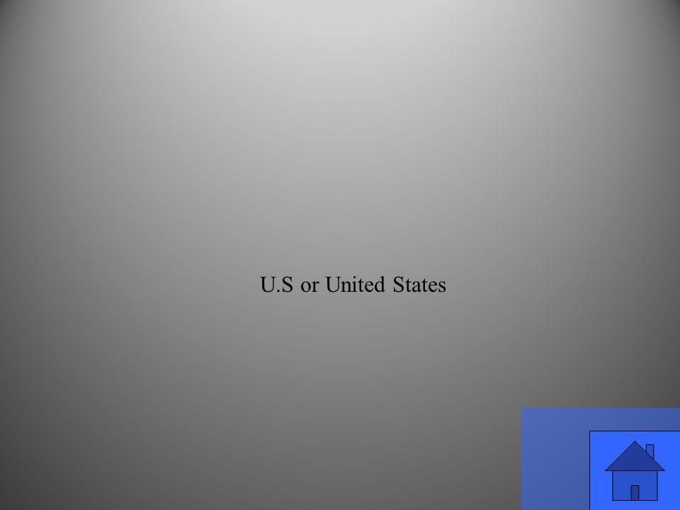 U.S or United States