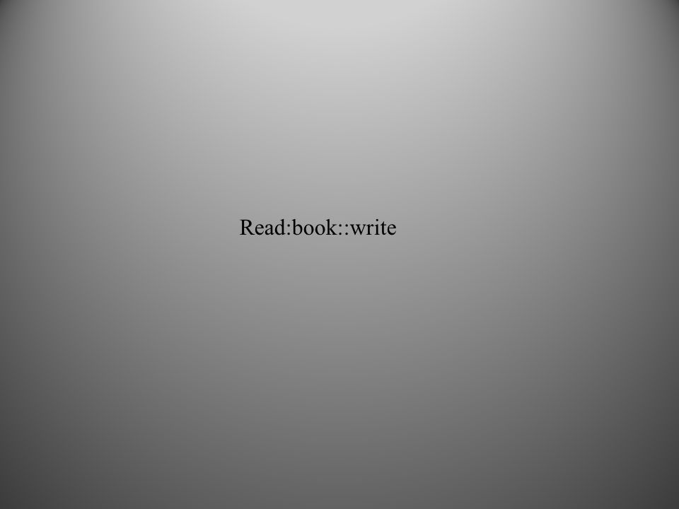 Read:book::write