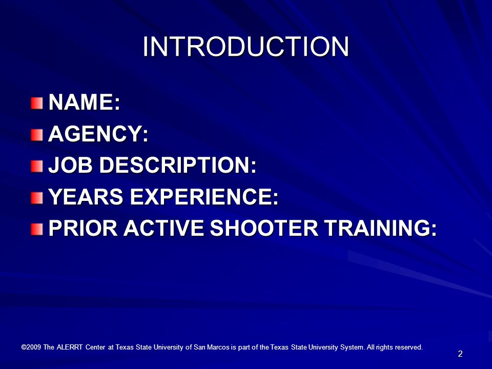 1 Rapid Response to Active Shooters in Schools and Public Buildings Presenters: Tom Canta Bubba Jones Bubba Jones Eddie Helmert Eddie Helmert