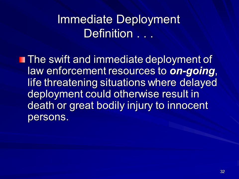 31 Immediate Deployment Tactics Contact-Rescue Team Concept
