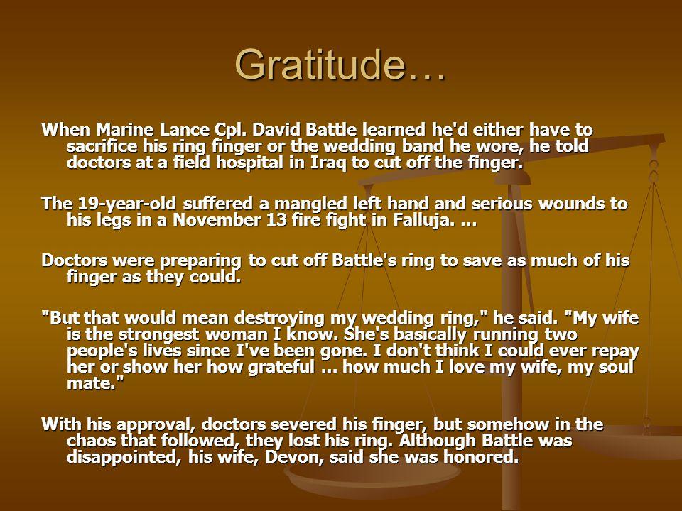 Gratitude… When Marine Lance Cpl.
