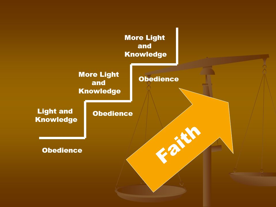 Obedience Light and Knowledge Obedience More Light and Knowledge More Light and Knowledge Faith