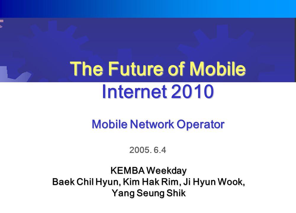 The Future of Mobile Internet 2010 Mobile Network Operator 2005.
