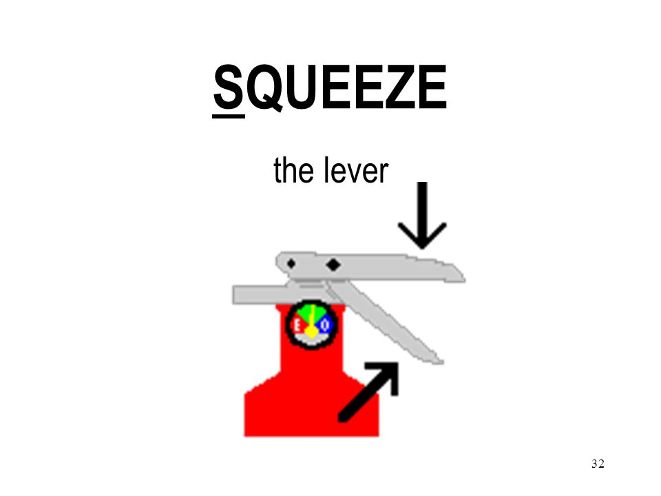 32 SQUEEZE the lever