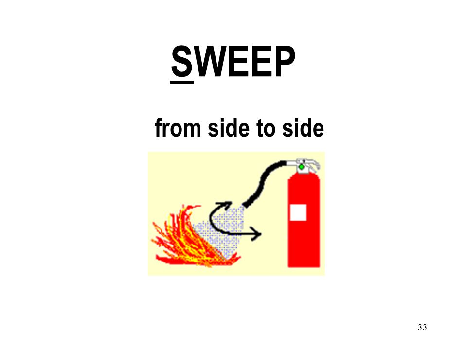 33 SWEEP from side to side