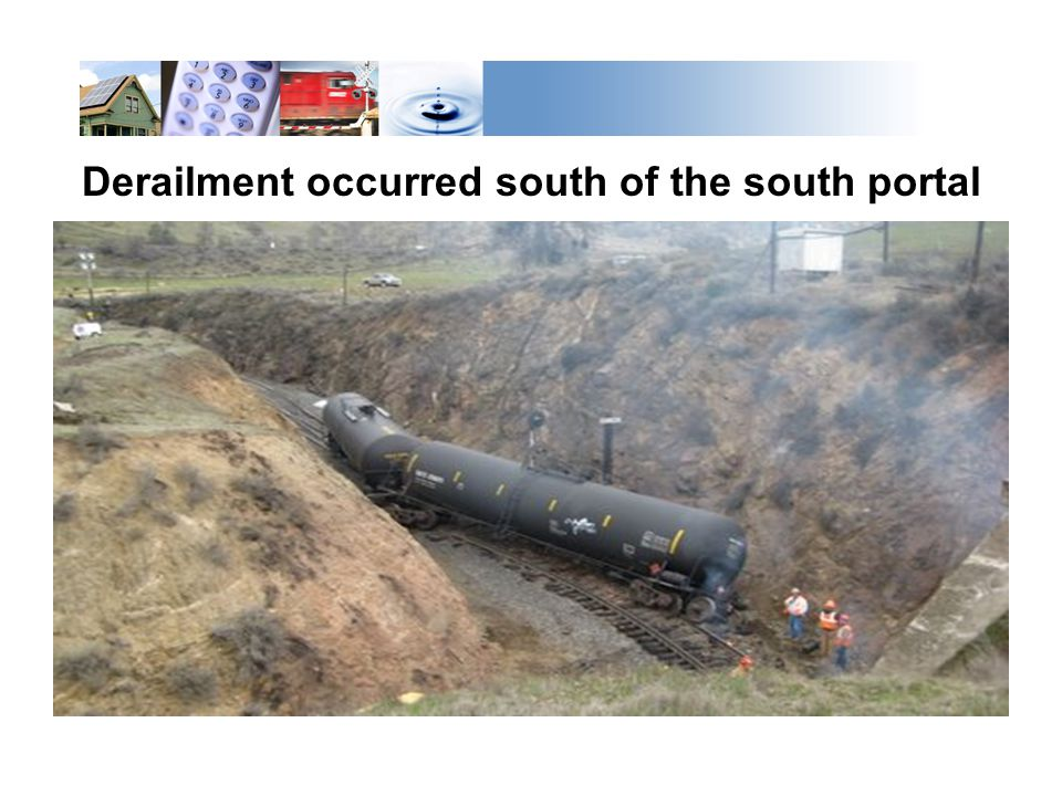 Derailment occurred south of the south portal