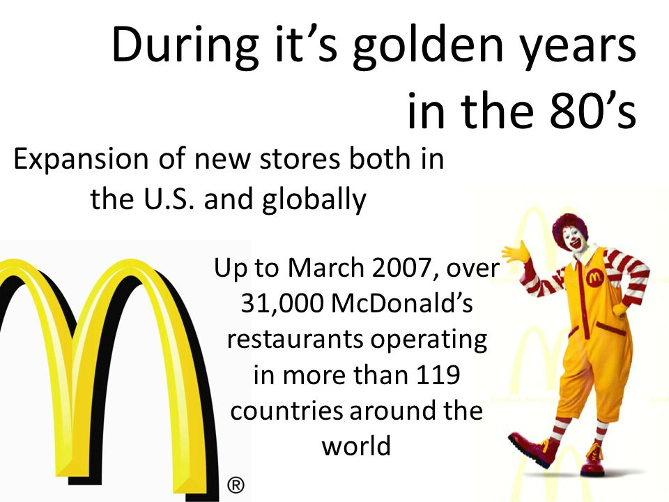 Expansion of new stores both in the U.S.