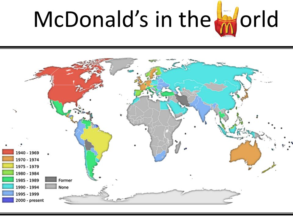 McDonald's in the orld