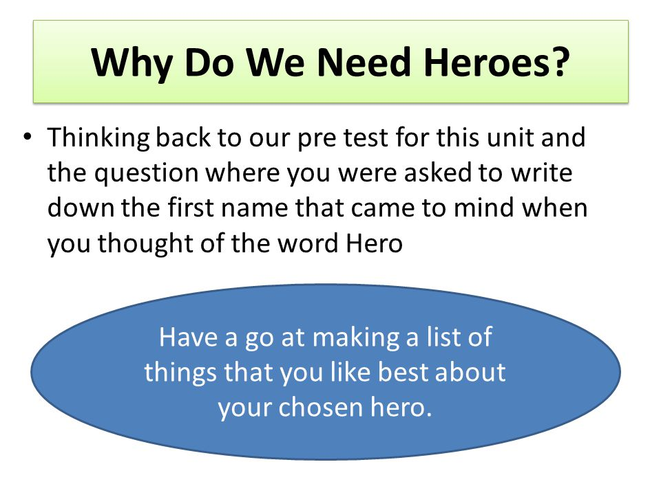 Defining heroism There is no universal hero, says sports psychologist Richard Lustberg, PhD.