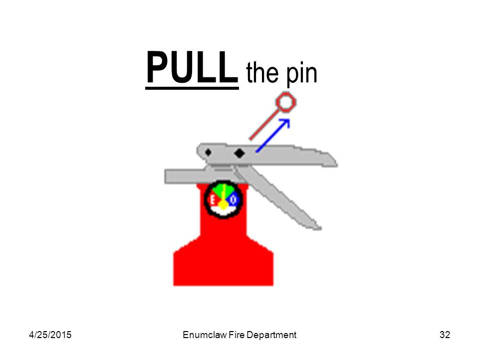 4/25/2015Enumclaw Fire Department32 PULL the pin