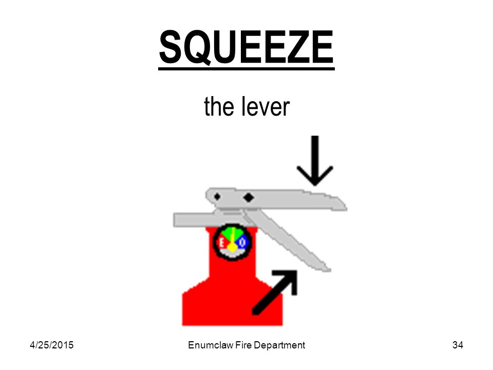 4/25/2015Enumclaw Fire Department34 SQUEEZE the lever