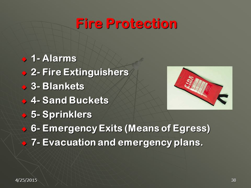 4/25/201537 If you discover a fire!!!!!!! Follow these simple rules:  1- Don't panic  2- Raise the alarm  3- Evacuate laboratory  4- Turn off elec