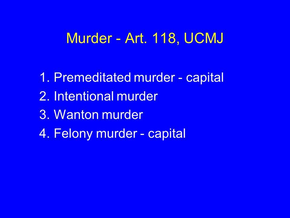 Murder - Art.