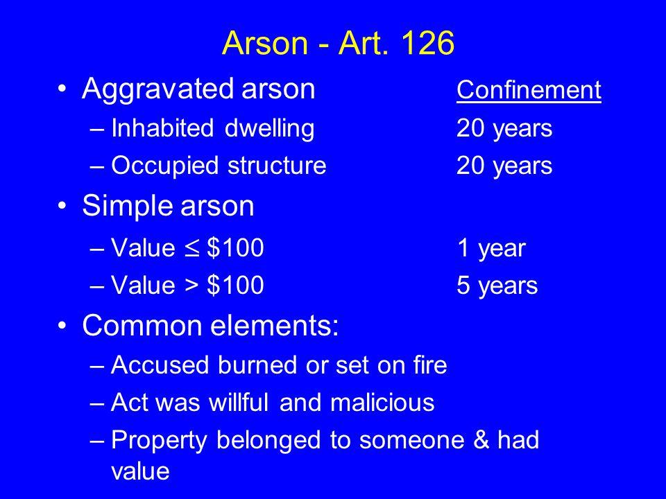 Arson - Art.