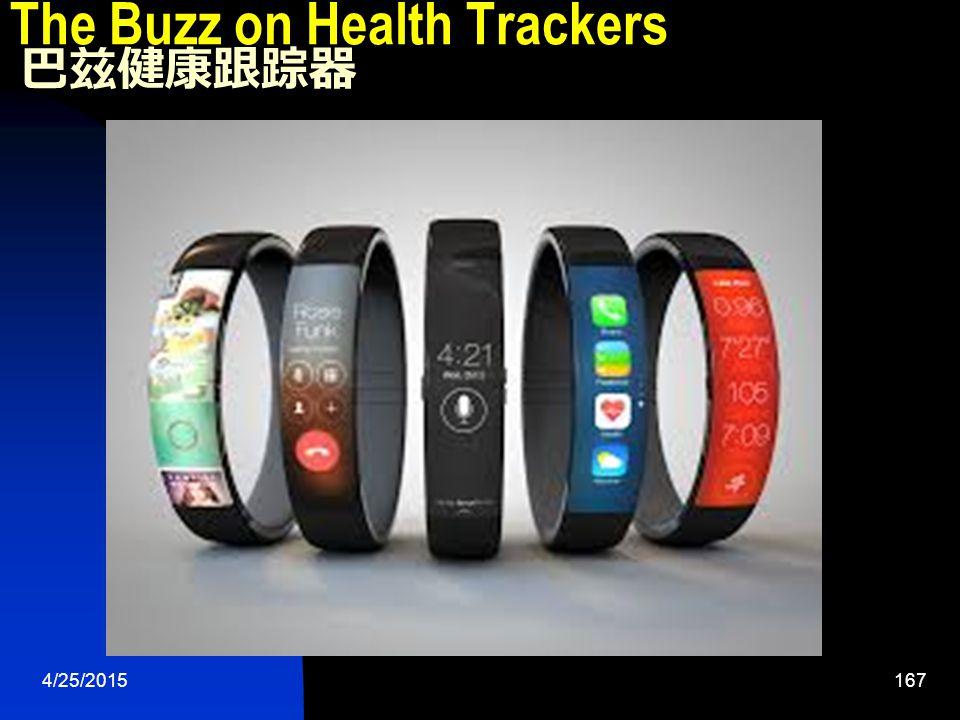 4/25/2015167 The Buzz on Health Trackers 巴兹健康跟踪器