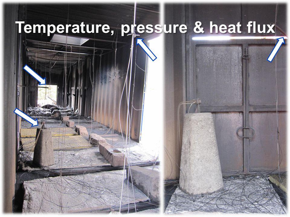Temperature, pressure & heat flux