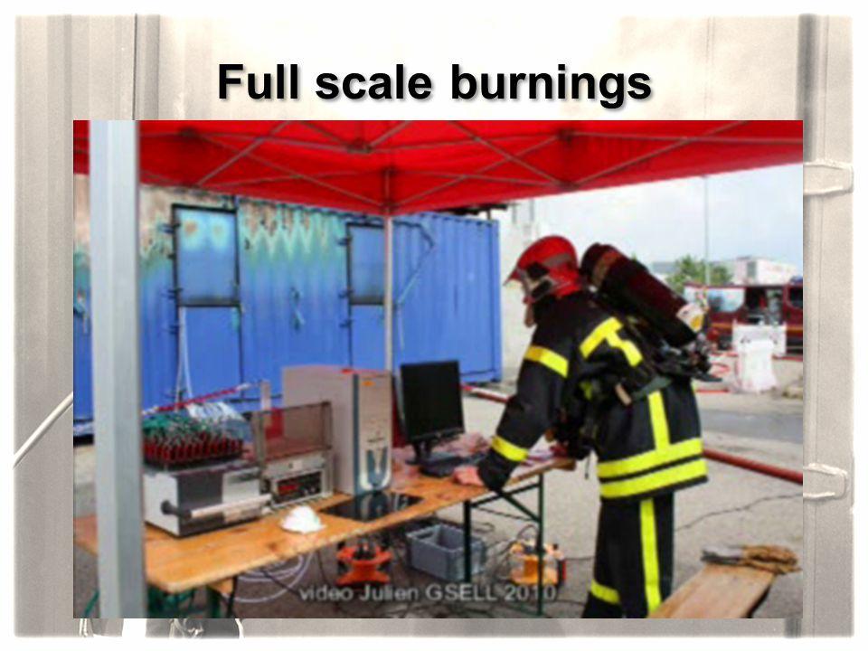 Full scale burnings