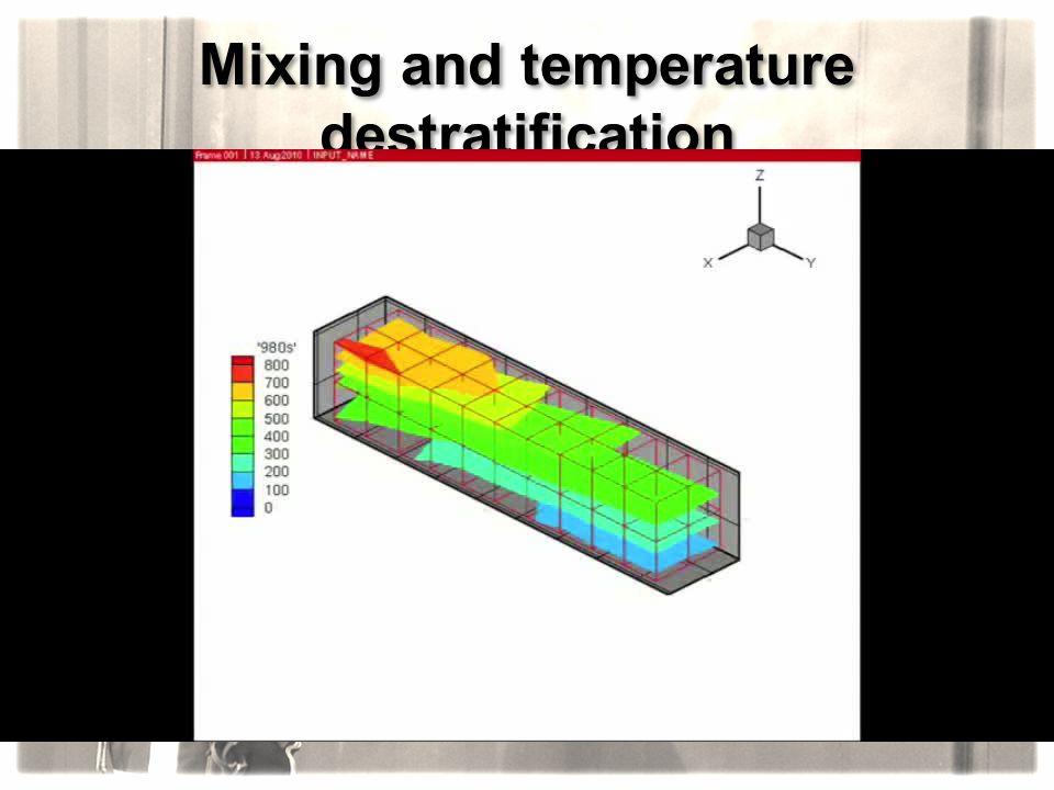 Mixing and temperature destratification Scenario n°6