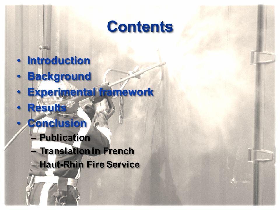 ContentsContents IntroductionIntroduction BackgroundBackground Experimental frameworkExperimental framework ResultsResults ConclusionConclusion –Publi