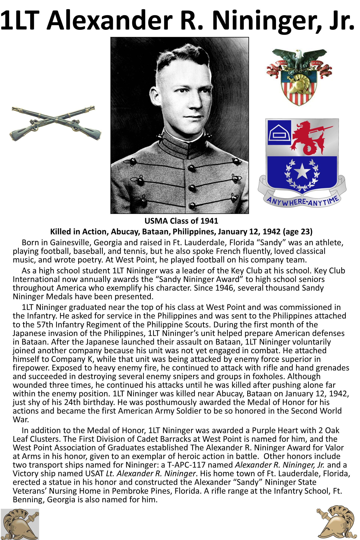 1LT Alexander R. Nininger, Jr.