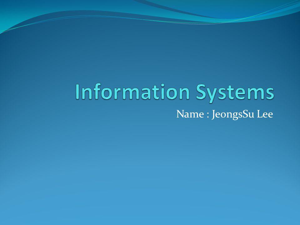 Name : JeongsSu Lee