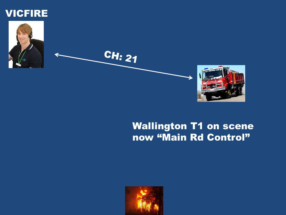Wallington T1 on scene now Main Rd Control CH: 21 VICFIRE