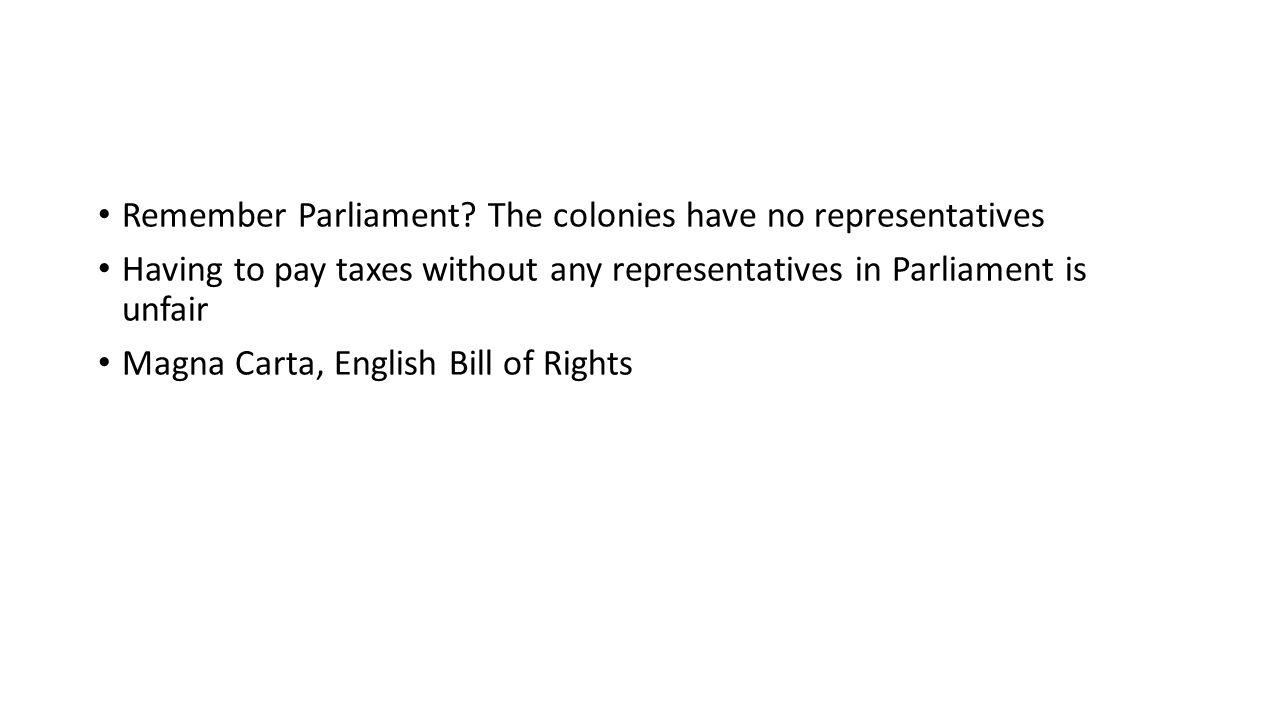 Remember Parliament.