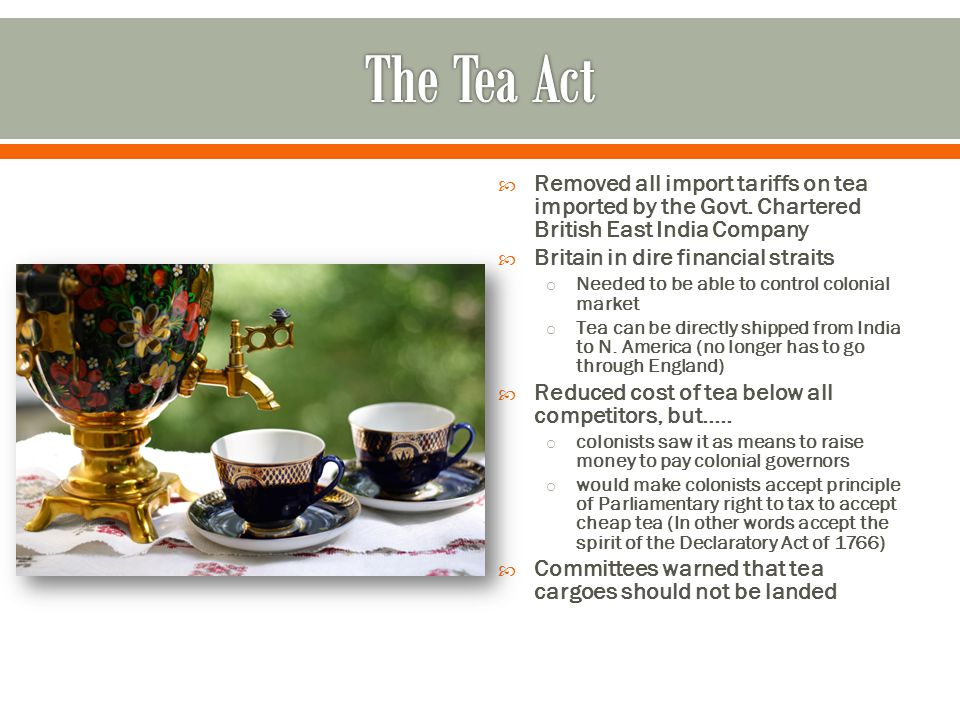  Removed all import tariffs on tea imported by the Govt.