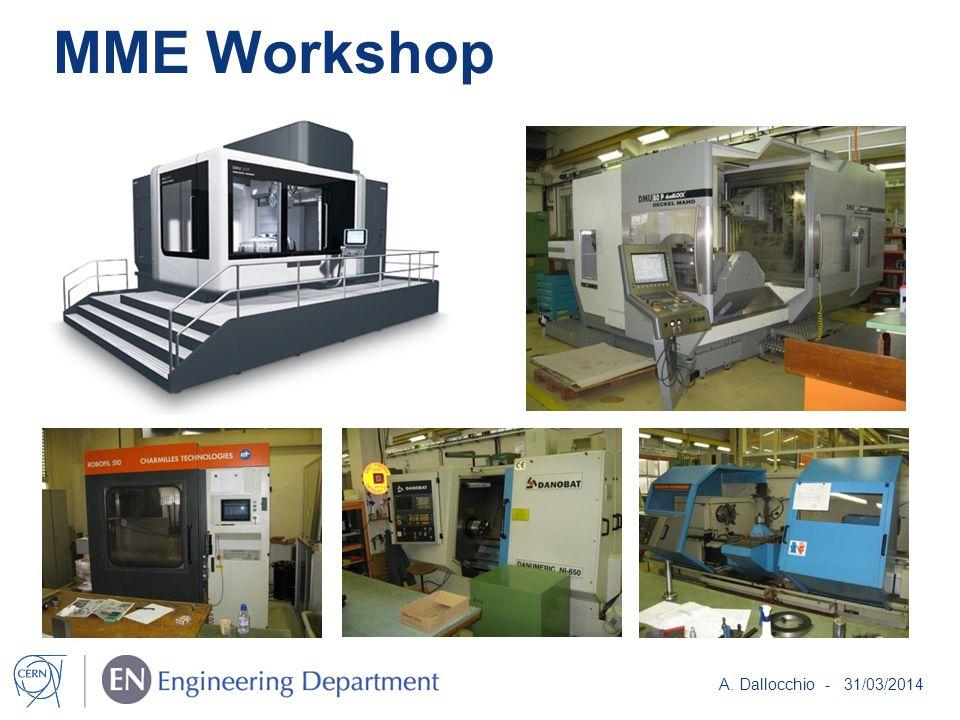 MME Workshop A. Dallocchio - 31/03/2014