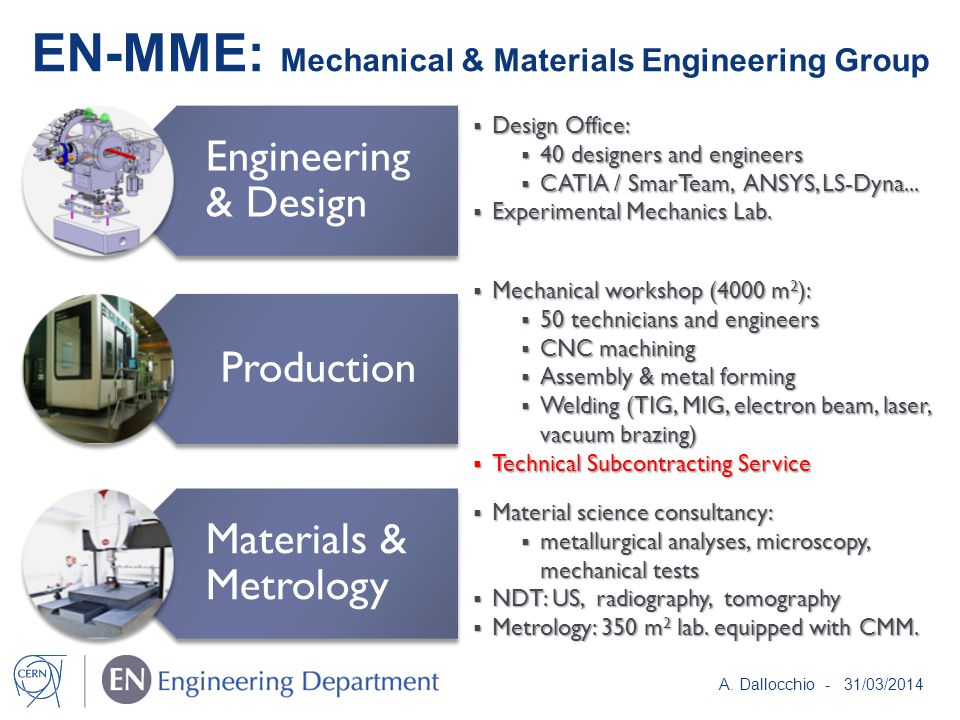 EN-MME: Mechanical & Materials Engineering Group A.