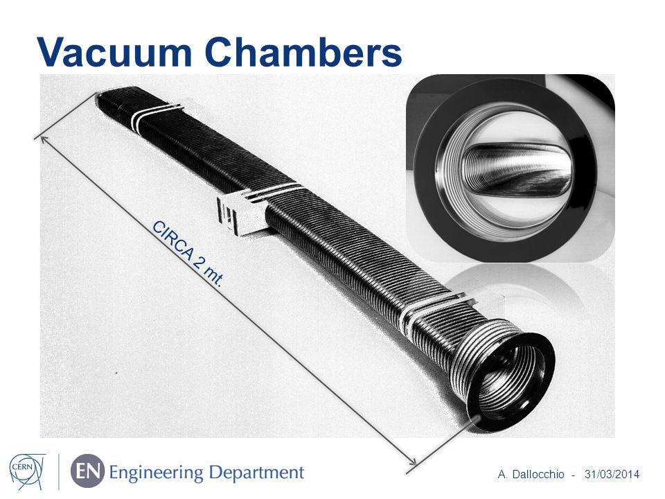 Vacuum Chambers CIRCA 2 mt. A. Dallocchio - 31/03/2014