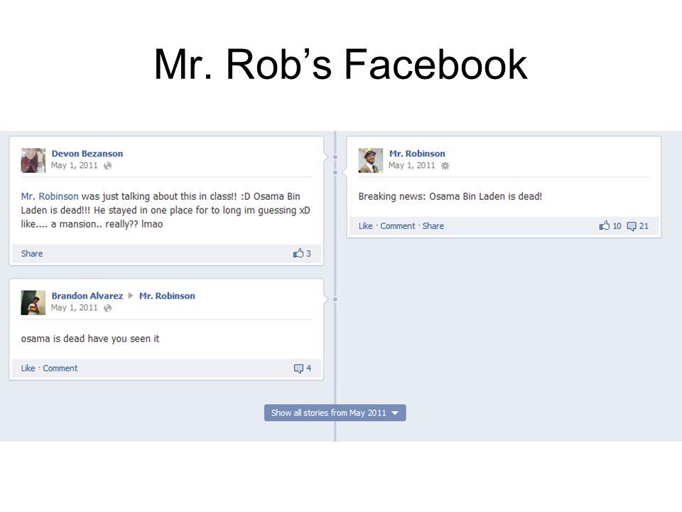 Mr. Rob's Facebook