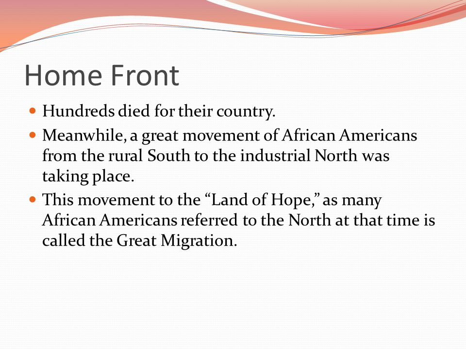 Home Front Hundreds died for their country.