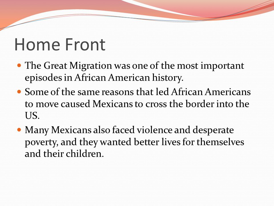 The Great Migration was one of the most important episodes in African American history.