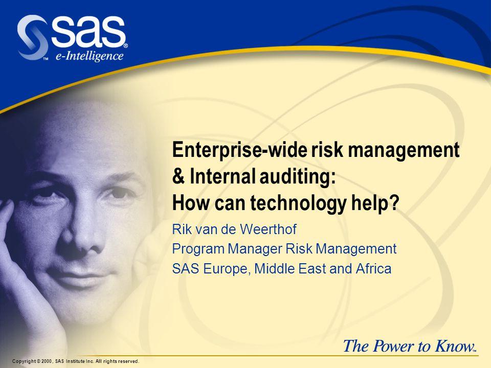 Enterprise-wide risk management & Internal auditing: How can technology help.