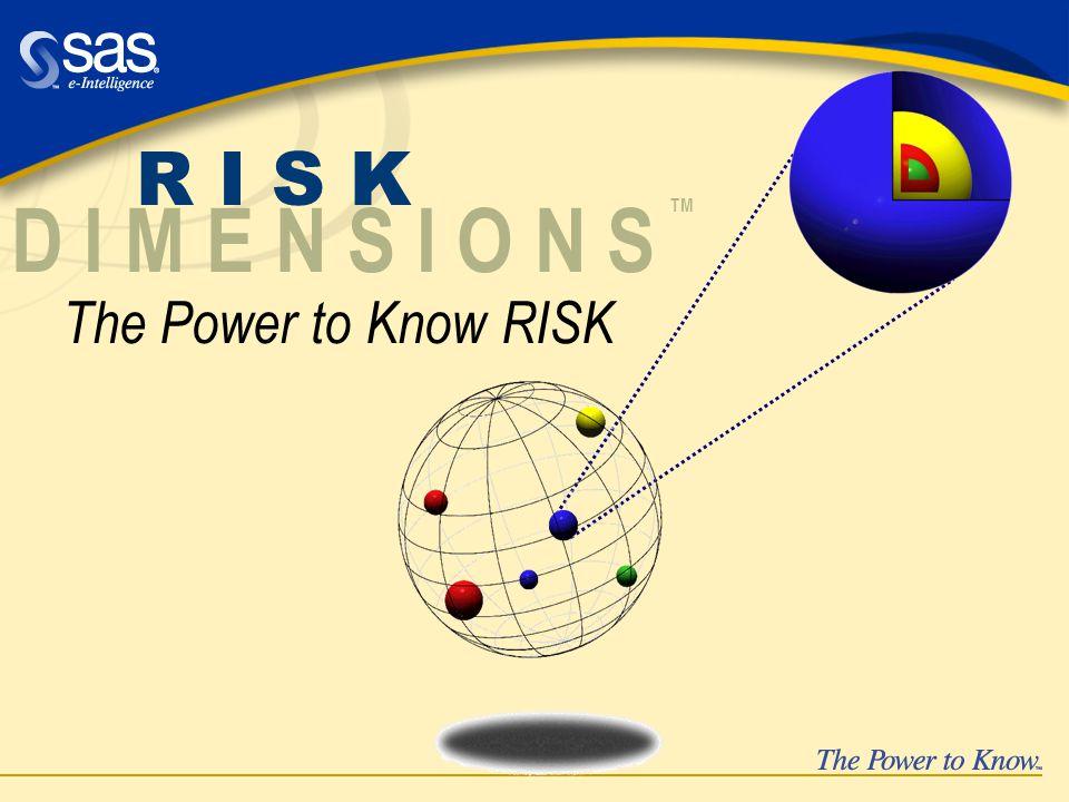 The Power to Know RISK R I S K D I M E N S I O N S TM