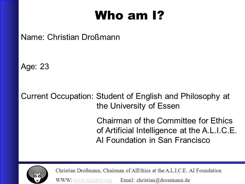 Christian Droßmann, Chairman of AIEthics at the A.L.I.C.E.