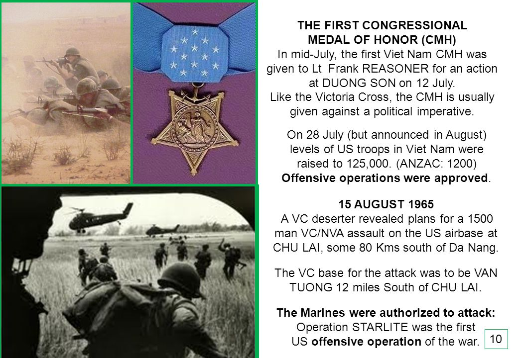 THIS SLIDE AND PRESENTATION WAS PREPARED BY DAVE SABBEN WHO RETAINS COPYRIGHT © ON CREATIVE CONTENT 10 On 28 July (but announced in August) levels of US troops in Viet Nam were raised to 125,000.