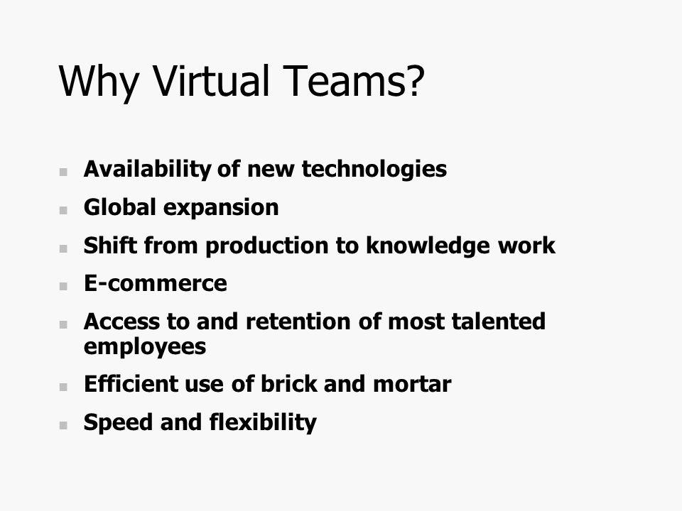 Why Virtual Teams.
