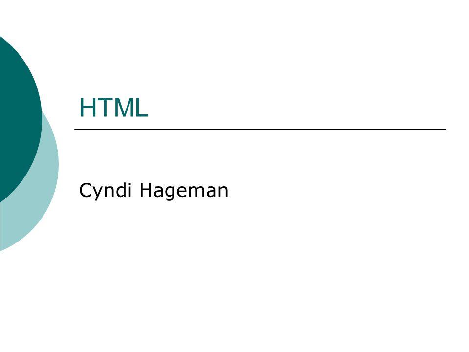 HTML Cyndi Hageman