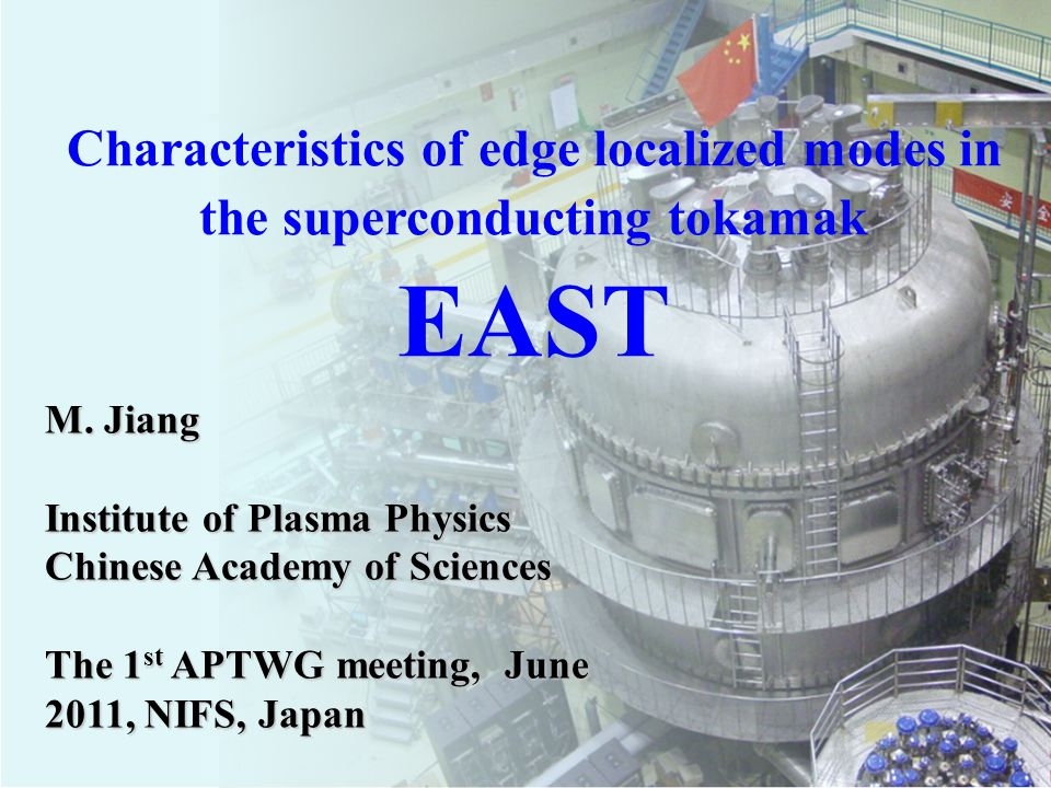 ASIPP Classifications of ELMs on EAST 5.quasi-periodic oscillations 6.